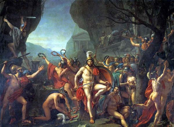 Леонид при Фермопилах картина Жака Луи Давида