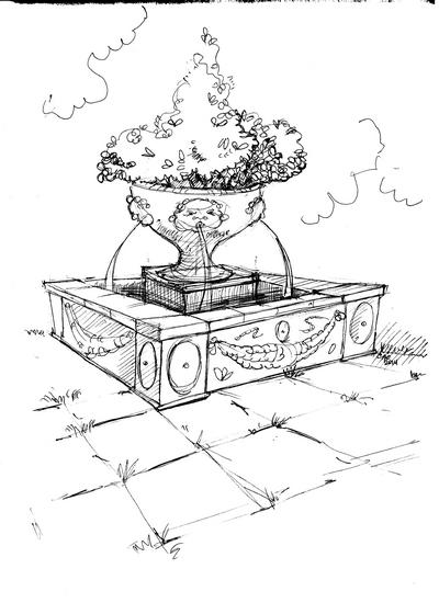 Садово-парковый фонтан
