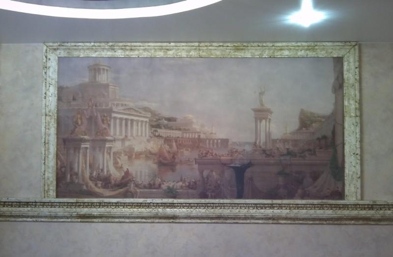 фреска под картину с обрамлением