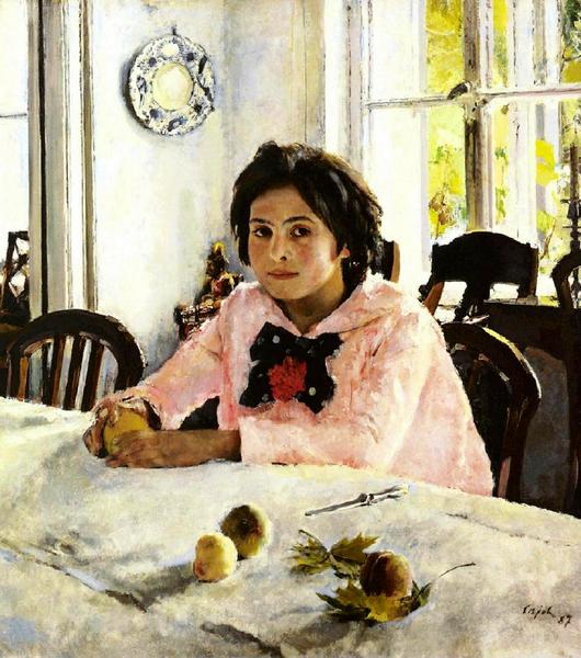 Серов Девочка с персиками